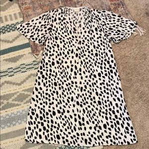 Spotted dress.